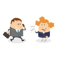 Businessman and secretary vector