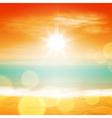 Sea sunset with bright sun vector