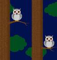 Seamless owls pattern vector