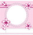 Photo frame or greeting card vector