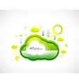 Clean cloud green space concept vector