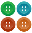 Set of colorful sewing buttons vector