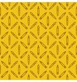 Linear art tools flat yellow seamless pattern vector