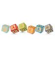 Word career written with alphabet blocks vector