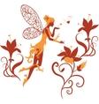 Fairy silhouette vector