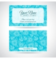 Template of business card with lace flowers vector