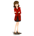 A lady with a red blazer vector