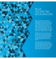 Blue geometric background with triangles vector