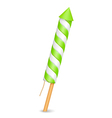 Green firework rocket vector