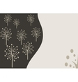 Decorative trees background with doodle tree vector