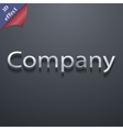 Company icon symbol 3d style trendy modern design vector