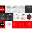 Infographic calendar 2014 with arrows vector