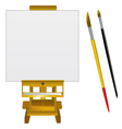 Canvas art board and brushes vector