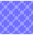 Design seamless colorful knitted geometric pattern vector
