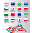 Flags of different countries vector
