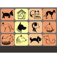 Dog icon set vector