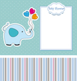New baby shower card with elephant vector
