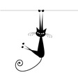 Funny cat silhouette black for your design vector