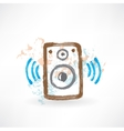 Music speakers grunge icon vector