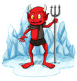 Freezing man with a fork vector