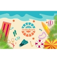 Summer vecetion time background vector