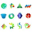 12 colorful symbols set 18 vector