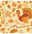 Autumn seamless for thanksgiving day vector