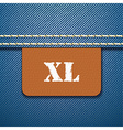 Xl size clothing label - vector