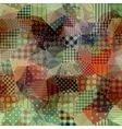 Abstract patchwork pattern vector