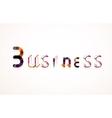 Business word keyword font vector