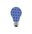 Bulb with blue solar panel vector