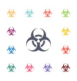 Bio hazard flat icons set vector