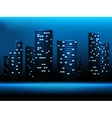 Night city landscape vector