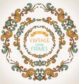 Set of vintage round frames vector