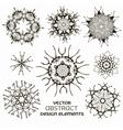 Abstract design elements set vector