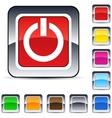 Power square button vector