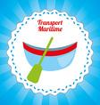 Maritime transport design vector