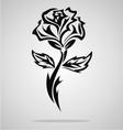 Tribal rose vector