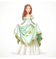 Beautiful princess with brown hair vector