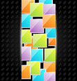 Abstract metal background with colorful squares vector