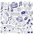 Music party - doodles vector