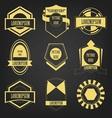 Premium vintage label set vector