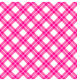 Pink gingham seamless pattern vector