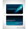 A blue business card design vector