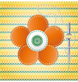 Colorful scrapbook with flower vector