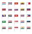 World country flag icons vector