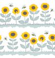 Sunflowers seamless vector