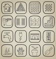 Natural leafs icon doodle set vector