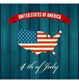 American independence day flat design vector