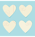 Valentine paper hearts vector